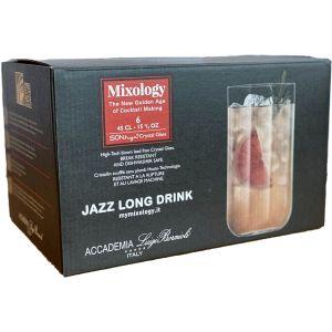 Luigi Bormioli Mixology Jazz Long Drink Glasses 6pk